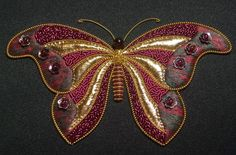 Cyber Butterfly Class - September 2013 www.alisoncoleembroidery.com.au