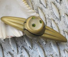 Susan Goldstick Gold/Jade/Black/Light Gold Orbit Congo Lt Decorative Cabinet Pull 1