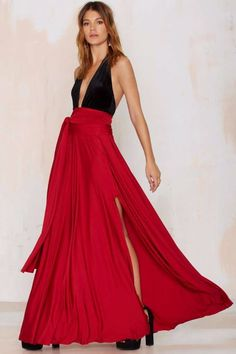 Maxi Cut Out Rock in Rot
