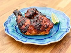 Get Grilled Adobo-Rubbed Chicken Recipe from Food Network - if guajillo unavailable, use ancho Mexican Food Recipes, New Recipes, Dinner Recipes, Ethnic Recipes, Favorite Recipes, Healthy Recipes, Grilling Recipes, Cooking Recipes, Apple Cider Vinegar Chicken