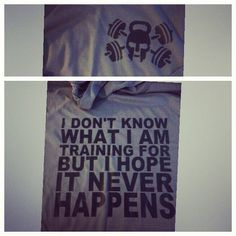 I don't know what I'm training for but I hope it never happens.  (hooded, long sleeve, short sleeve and tank available) by EmilyOliveCollection on Etsy