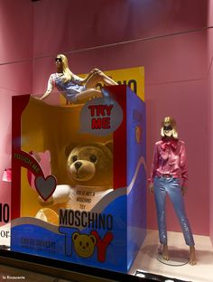 """La Rinascente, Milan, Italy, """"TOUCH ME"""", by MOSCHINO, pinned by Ton van der Veer"""
