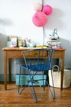 craft storage and vintage desk chair photo by Caroline Briel featured on @hearthandmadeuk