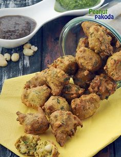 Peanut Pakoda- Enjoy hot during monsoon!