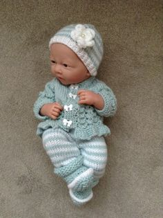 Hand Hand knitted dolls clothes to fit 14/15 by HandKnittedbyme