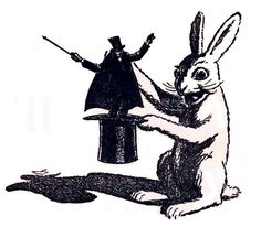 rabbit-pulling-magician-out-of-hat  1943
