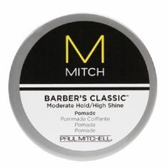 Paul Mitchell Mitch Barber's Classic Moderate Hold/High Shine Pomade, 3 Ounce * This is an Amazon Affiliate link. Check this awesome product by going to the link at the image.