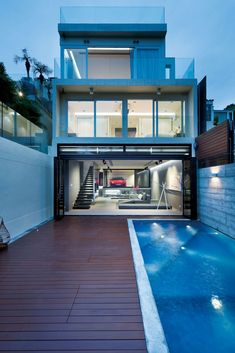 garage inside of a house in Hong Kong | interior design, home decor, houses, homes, architecture