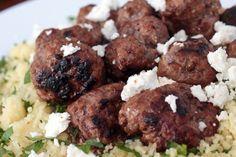 Lamb meatballs on herbed couscous – Recipes – Bite Lamb Recipes, Dinner Recipes, Cooking Recipes, Lamb Shanks, Lamb Chops, Lamb Pasta, Lamb Meatballs, Couscous Recipes, Lamb Dishes