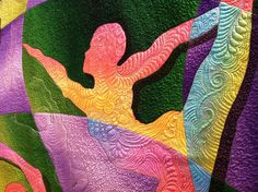 Carol Bryer Fallert  Totally awesome quilting  saw this in Houston, great quilt, a must see in person