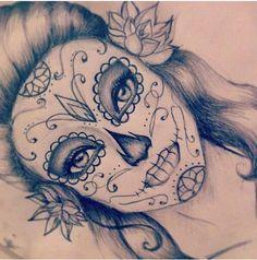 sketches of sugar skulls - Google Search