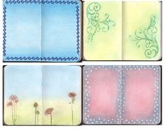 Journaleyes: More Pan Pastel Journal backgrounds - click thru for details on how these were done