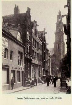 eerste leliedwarsstraat, Amsterdam Jordaan, jaren 20.