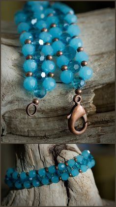 DIY Swarovski Crystal Beaded Bracelet Tutorial. Very clear instructions in this tutorial by The Blue Brick here. Love it! Must try! #ecrafty
