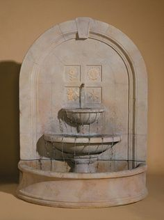 The Seasons Change Outdoor Wall Water Fountain is a remarkable cast stone water feature with an unassuming design that serves to capture and highlight the graceful and fluid beauty of water. It featur