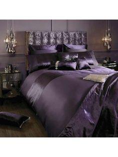 Kylie Minogue Lorenta Amethyst Bed Linen Range - House of Fraser Bedroom Color Schemes, Bedroom Colors, Bedroom Decor, Purple Bedding Sets, Purple Bedrooms, Glam Room, Luxurious Bedrooms, My New Room, Beautiful Bedrooms