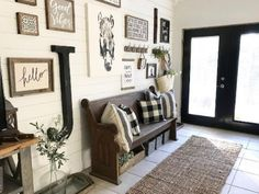 BackRoadSignCo on Instagram | Black and White Lobby Entry Farmhouse....  Find out more at the image link