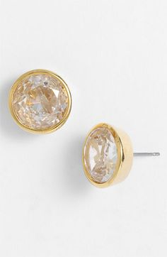 Michael Kors 'Glam Classics' Cubic Zirconia Stud Earrings Gold/ Clear Crystal by: MICHAEL Michael Kors @Nordstrom