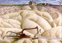 Alexandre Hogue: Erosion #2 - Mother Earth Laid Bare, 1936.