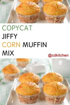 Made with all-purpose flour, yellow corn meal, sugar, baking powder, salt, vegetable oil | CDKitchen.com