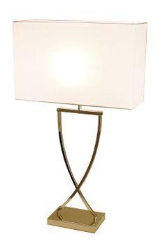 By Rydéns Bordslampa Omega Bordslampa Omega i blank mässingsfärg inkl skärm. E27 stor lamphållare med strömbrytare på transparenta sladden. Totalhöjd 52 cm, bredd 27 cm, djup 12 cm.