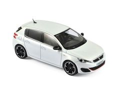Peugeot 308 GTi 2015 - Pearl White - Street cars - Car models - Die-cast | Hobbyland Scale model car made of metal /Die-cast/ in 1:43 scale manufactured by Norev.  It is just a small version of a real car suitable for collectors.  Handmade.  Composition: metal and plastic
