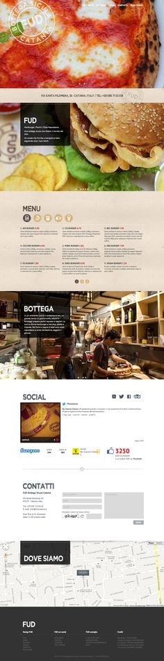 One pager for Italian restaurant FUD with some nice big images of their food.