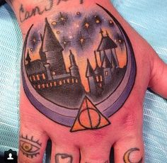 Hogwarts Tattoo - artist unknown