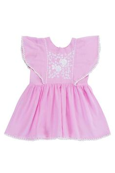 This stunning Garnett dress is a new addition to the Coco & Ginger staples. Available in Dusky Blue, Rose or Cerise. Littles beauties will have fun in this gorgeous knee length dress with hand stitch. Beautiful Children, Beautiful Hands, Kids Wear, Hand Stitching, Printed Cotton, Rompers, Summer Dresses, Rose, Crochet