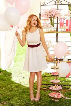 From cute, one-bite cupcakes to pretty party dresses, pink is always a good idea. Give this pastel fit-and-flare little number a whirl at the next baby shower or birthday. The style is universally flattering and the color, forever feminine. Find the LC Lauren Conrad Celebrate collection only at Kohl's.