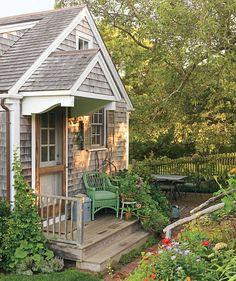 Quaint, tiny, tucked-away cottage. <3
