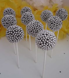 Disco Mirror Ball Cake Pops