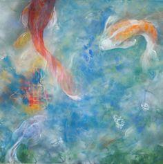 "Fleeting Acrylic with spray acrylic on canvas, 30"" x 30"" SOLD  ©NanciHersh  contact nancihersh@gmail.com"