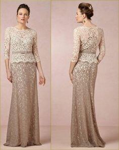 Vestido para mae da noiva -  longo nude, Mother of the bride dress