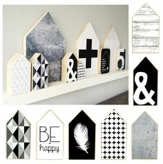 DIY prints houses