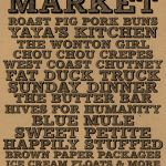 Hawkers Market is a monthly curated dosage of food and music- vancouver, canada.