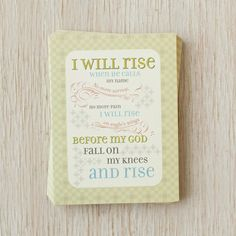 Lyrics for Life - I Will Rise - 12 Boxed Note Cards