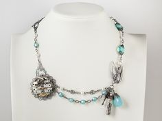From vintage to steampunk, fun idea for less than perfect vintage jewelry.