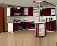 a complete vision of Indian kitchen cabinets through many Indian kitchen designs and Indian kitchen colors and cabinets designs So, keep going. Kitchen Room Design, Kitchen Cabinet Design, Modern Kitchen Design, Home Decor Kitchen, Interior Design Kitchen, Kitchen Designs, Kitchen Colors, Kitchen Trends, Glossy Kitchen