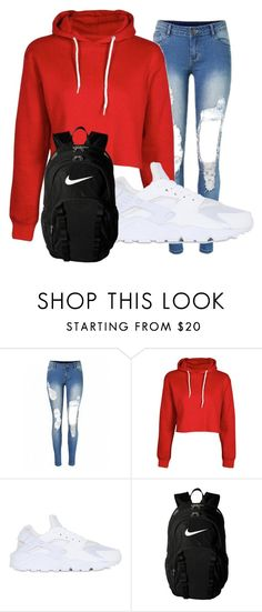 """Untitled #1"" by hannaegerton on Polyvore featuring NIKE"