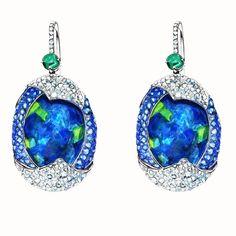 Pure luxury - Black Opal Diamond Earrings