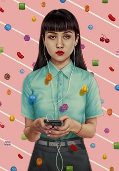 The surreal artwork of Alex Gross blends unusual graphic elements into everyday scenes. His latest paintings will be featured as part of his new book Future Tense. The characters epitomise modern society,...