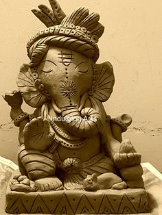 Eco Friendly Ganesha. Eco Friendly Ganesha, Ganesh Chaturthi Decoration, Creative Things, Alia Bhatt, Deities, Festivals, Poetry, Dressing, Clay