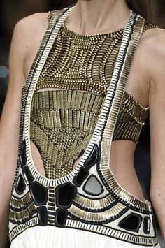 Gorgeous gold beaded top. Sass Bide at London Fashion week s/s 2010