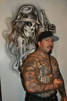 Cholos Sabrozoz Gangster Tattoos, Chicano Tattoos, Dope Tattoos, Tattoos For Guys, Chicano Love, Chicano Art, Arte Lowrider, Mexican Tattoo, Cholo Style