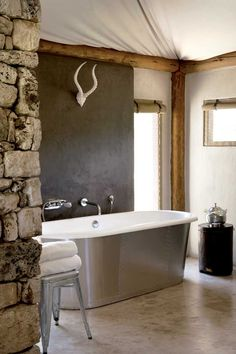Bathroom at The Fort at Onguma, Namibia (House and Leisure)