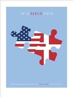 Poster in honor of Rebild's 100th Year
