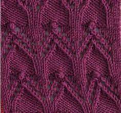 Cloisters Square #free #knit #knitting #pattern #motif #square #freepattern #freeknittingpattern