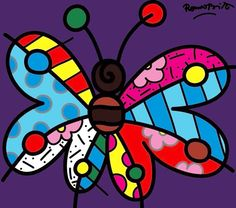 Amiscol: Butterflies like Romero Britto. Art Papillon, Pop Art, Brazil Art, Arte Country, Art Sculpture, Arte Pop, Butterfly Art, Elementary Art, Artist Art