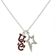 Interlocking USC Gamecocks Wishing Necklace